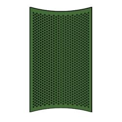 Rubbermaid - 9W54-L1 - 32 Gallon Green Round Perforated Replacement image