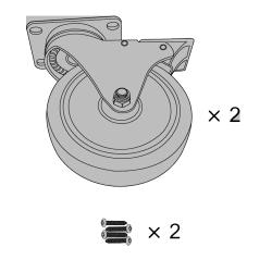 Rubbermaid - 9W71-L1 - Gray 5 in Diameter Caster Kit image