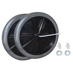Rubbermaid - FG9W71L2BLA - 12 in Diameter Black Wheel Kit image