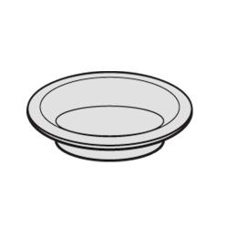 Rubbermaid - FG3978L1MALUM - 6 in Landmark Series® Container Ashtray With Gasket image
