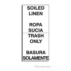 Rubbermaid - FG7961L3BLA - Soiled Linen/Trash Only Labels image