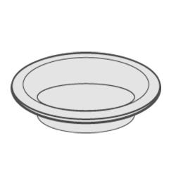 Rubbermaid - FG9104L1MALUM - 10 in AshTray With Gasket Mirror image