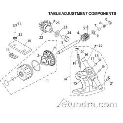 Globe - Globe 3600P/3850P/3975P Slicer Table Adjustment Parts image