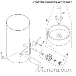 Globe - Globe 3600P/3850P/3975P Slicer Vegetable Hopper Parts image