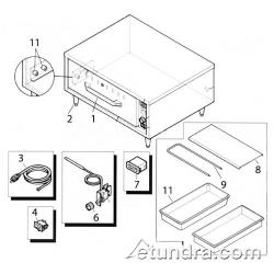 Hatco HDW Series Drawer Warmer Parts image