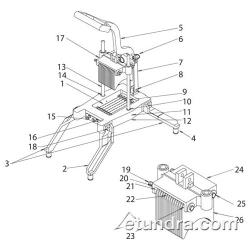 Nemco Easy Onion Slicer™ Parts image