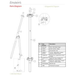 Tuuci - Einstein's 6.5 ft Square Umbrella Parts image