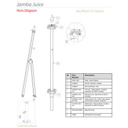 Tuuci - Jamba Juice 5.5 ft Square Umbrella Parts image