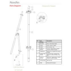 Tuuci - Noodles 6.5 ft Square Umbrella Parts image