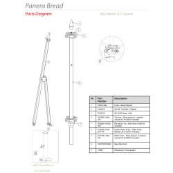Tuuci - Panera 8.5 ft Square Umbrella Parts image
