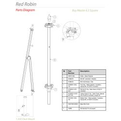 Tuuci - Red Robin 6.5 ft Square Umbrella Parts image