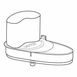 Waring - 502583 - Kidney shaped Continuous Feed Cover Assembly image
