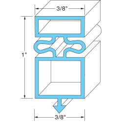 Allpoints Select - 741057 - 25 1/8 in x 54 1/8 in Door Gasket image