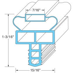 Allpoints Select - 741140 - 21 1/2 in x 22 1/2 in 4-Sided Magnetic Door Gasket image