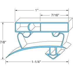 Allpoints Select - 741290 - 26 3/4 in x 54 1/4 in 4-Sided Magnetic Door Gasket image