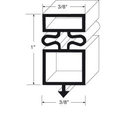"Commercial - 810837 - 23"" x 36 1/2"" Door Gasket image"