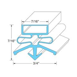 Continental Fridge - 2-731 - Gasket image