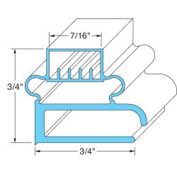 "Delfield - 1702004 - 24 3/4"" x 27 1/4"" Door Gasket image"