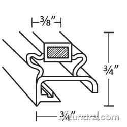 Delfield - 1702110-NS - 24 1/2 in x 25 1/2 in 4-Sided Magnetic Door Gasket image