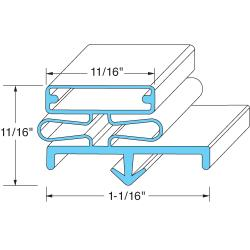 Delfield - 1702295 - 22 3/4 in x 59 1/4 in 4-Sided Margentic Door Gasket image