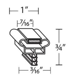 Delfield - 1702751 - 23 1/8 in x 59 in 4-Sided Magnetic Door Gasket image