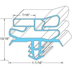 "Delfield - 1702752 - 23 1/7""  x  28 1/5"" Door Gasket image"