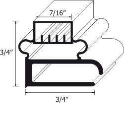 FMP - 127-1033 - 8' Screw-In Magnetic Gasket image