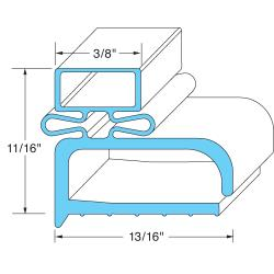 FMP - 145-1032 - 15 1/8 in x 24 1/4 in 4-Sided Magnetic Door Gasket image