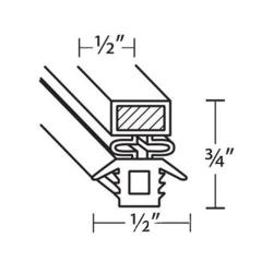 FMP - 232-1004 - 29 5/8 in x 23 5/8 in 4-Sided Magnetic Door Gasket image