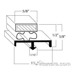 Nor-Lake - 28339 - 28 3/4 in x 67 in Door Gasket image