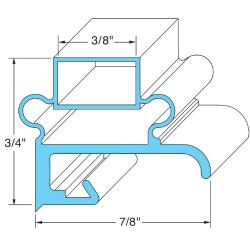 Original Parts - 741015 - 15 1/2 in x 20 5/8 in Door Gasket image