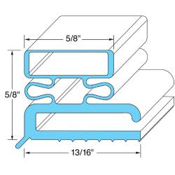 Original Parts - 741037 - 23 1/2 in x 59 1/2 in Door Gasket image