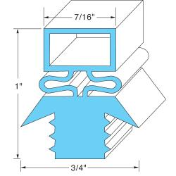 Original Parts - 741050 - 29 5/8 in x 23 5/8 in 4-Sided Magnetic Door Gasket image