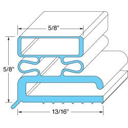 Original Parts - 741052 - 6 3/4 in x 23 1/2 in Drawer Gasket image