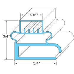 Original Parts - 741168 - 15 3/8 in x 27 1/2 in Door Gasket image
