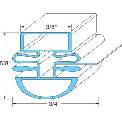 Original Parts - 741238 - 22 1/2 in x 26 3/4 in 4-Sided Mangetic Door Gasket image