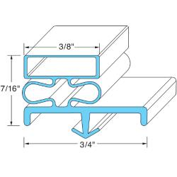 Original Parts - 741291 - 21 in x 24 5/8 in Door Gasket image