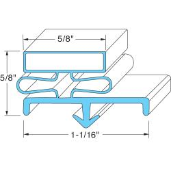 Randell - INGSK320 - 24 1/2 in x 58 in 4-Sided Magnetic Door Gasket image