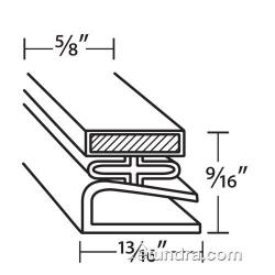 Traulsen - 341-0453-03 - 21 1/2 in x 23 1/2 in 4-Sided Magnetic Door Gasket image