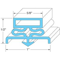 Traulsen - 341-39080-00 - 20 3/4 in x 29 5/8 in Door Gasket image