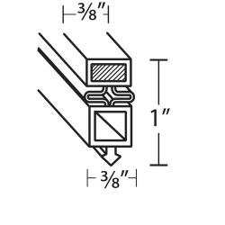 "True - 810808 - 25 5/8"" x 26 5/8"" Door Gasket image"
