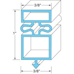 "True - 810861 - 23 1/4"" x 50 3/8"" Door Gasket image"