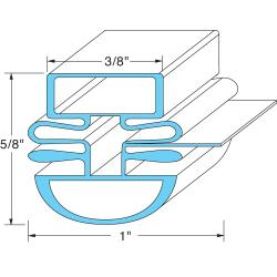 Turbo Air - M272300100 - 25 1/2 x 26 1/2in Door Gasket image