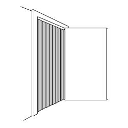 "Curtron - CZN-8-PR-4080 - Curtronizer™ Economy 8"" x 36"" x 78"" Strip Door image"