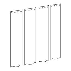"Curtron - CZN-6-PR-86-4PK - Curtronizer™ Economy 4-Pk of 6"" x 86"" Replacement Strips image"
