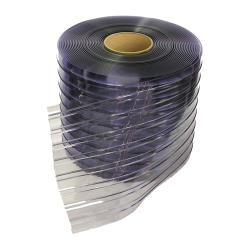 "Curtron - RCS08072 - 8"" x 150' Ribbed Clear PVC Strip Roll image"