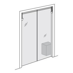 "Curtron - PP-C-080-4284 - Polar-Pro™ 42"" x 84"" PVC Swinging Door image"