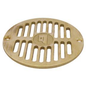 Commercial 5 1 2 round brass floor drain strainer etundra for 10 inch floor drain cover