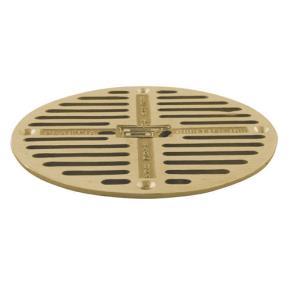 Commercial 7 1 2 round brass floor drain strainer etundra for 10 floor drain cover