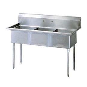Commercial Kitchen Sinks 3 Compartment : Turbo Air - TSA-3-N - 59 3/4